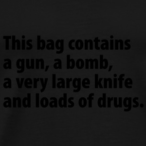 Stoffbeutel This bag contains a gun … - Männer Premium T-Shirt