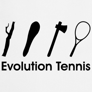 Evolution Tennis * racket funny Comic Clipart icon Hoodies & Sweatshirts - Cooking Apron