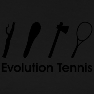 Evolution Tennis * racket funny Comic Clipart icon Polo Shirts - Men's Premium T-Shirt