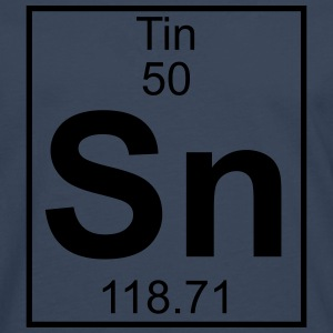 Element 050 - Sn (tin) - Full T-shirts - Herre premium T-shirt med lange ærmer