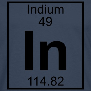 Element 049 - In (indium) - Full T-shirts - Herre premium T-shirt med lange ærmer