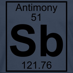 Element 051 - Sb (antimony) - Full T-shirts - Herre premium T-shirt med lange ærmer