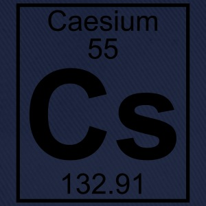 Element 055 - Cs (caesium) - Full T-shirts - Basebollkeps