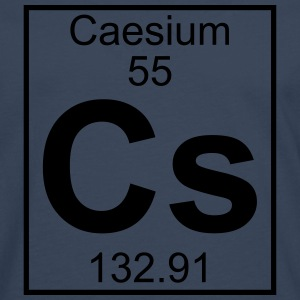 Element 055 - Cs (caesium) - Full T-shirts - Herre premium T-shirt med lange ærmer