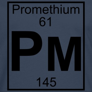 Element 061 - Pm (promethium) - Full T-shirts - Herre premium T-shirt med lange ærmer