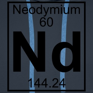 Element 060 - Nd (neodymium) - Full T-shirts - Herre Premium hættetrøje