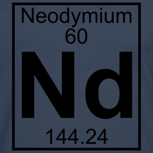 Element 060 - Nd (neodymium) - Full T-shirts - Herre premium T-shirt med lange ærmer