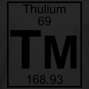 Element 069 - Tm (thulium) - Full T-shirts - Herre premium T-shirt med lange ærmer