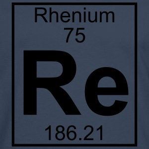 Element 075 - Re (rhenium) - Full T-shirts - Herre premium T-shirt med lange ærmer