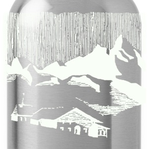 Vintage white mountain village alps T-Shirts - Water Bottle