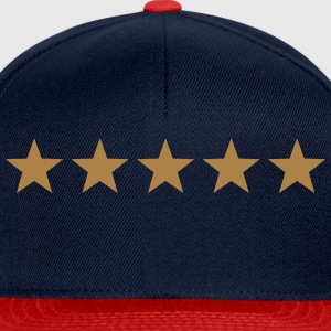 5 Stars, winner, hero, best, five, golden, award T-Shirts - Snapback Cap