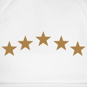 Five Stars, winner, hero, best, 5, golden, award T-Shirts - Baseball Cap