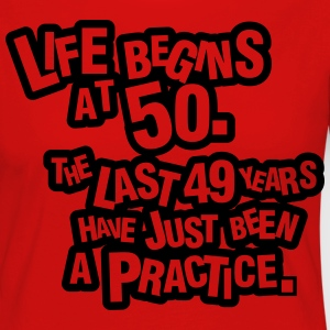 Life begins at 60. The rest was just a practice T-shirts - Långärmad premium-T-shirt dam