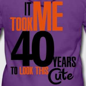It took me 40 years to look this cute T-Shirts - Women's Premium Hooded Jacket