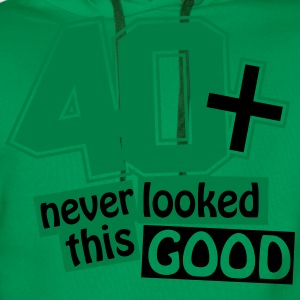 40 and never looked this good T-Shirts - Men's Premium Hoodie