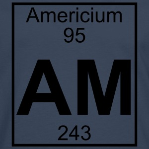Element 095 - Am (americium) - Full T-shirts - Herre premium T-shirt med lange ærmer