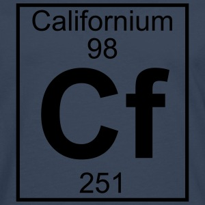 Element 098 - Cf (californium) - Full T-shirts - Herre premium T-shirt med lange ærmer