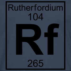 Element 104 - Rf (rutherfordium) - Full T-shirts - Herre premium T-shirt med lange ærmer