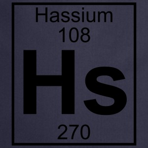 Element 108 - Hs (hassium) - Full T-shirts - Forklæde