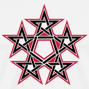 Pentagram, 5 Stars, Pentagon, Golden Ratio Long sleeve shirts - Men's Premium T-Shirt