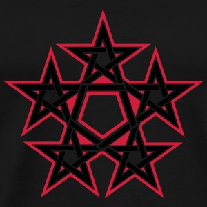 Pentagram, 5 Stars, Pentagon, Golden Ratio Tröjor - Premium-T-shirt herr