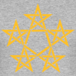 Pentagram, 5 Stars, Pentagon, Golden Ratio Sweaters - slim fit T-shirt