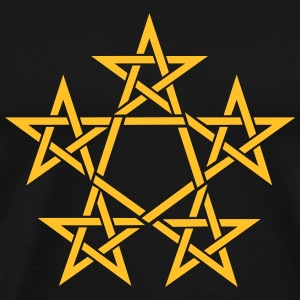 Pentagram, 5 Stars, Pentagon, Golden Ratio Hoodies & Sweatshirts - Men's Premium T-Shirt