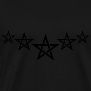 Pentagram, 5 Stars, Magic, Golden Ratio, spirit Tröjor - Premium-T-shirt herr