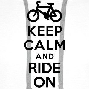 Keep calm and ride on bike Bouteilles et tasses - Sweat-shirt à capuche Premium pour hommes