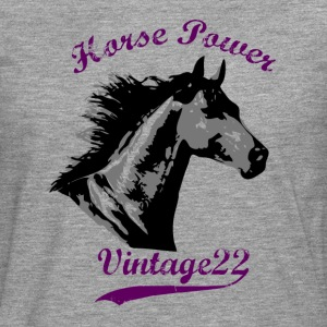 Horse Power Design T-shirts - Långärmad premium-T-shirt herr