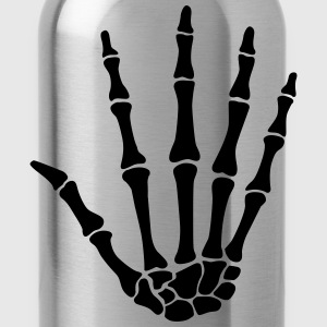skull hand - knochen hand T-Shirts - Water Bottle
