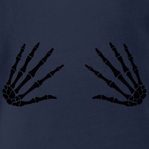 grab skull hands - boobgrabber Tee shirts - Body bébé bio manches courtes
