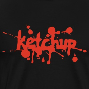 Black Ketchup  Aprons - Men's Premium T-Shirt