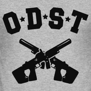 ODST Dual SMG's hooded sweatshirt - Men's Slim Fit T-Shirt