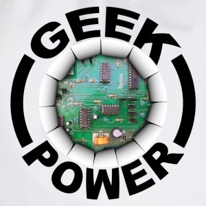 Geek power 02 Langarmshirts - Turnbeutel