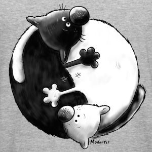 Black and White - Yin Yang - Chats Sweat-shirts - Tee shirt près du corps Homme