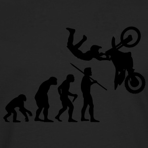 Men's Evolution of Man - Motorcross T-Shirt - Men's Premium Longsleeve Shirt