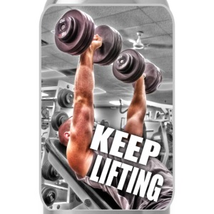 Keep Lifting - Gym - Weight Training - Muscle T-Shirts - Water Bottle