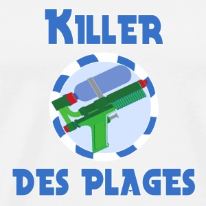 Killer des plages Kopper & flasker - Premium T-skjorte for menn