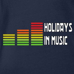 Holidays in music T-Shirts - Baby Bio-Kurzarm-Body
