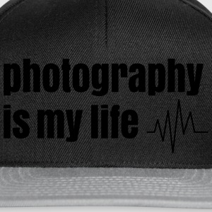photography is my life la photographie est ma vie Tee shirts - Casquette snapback
