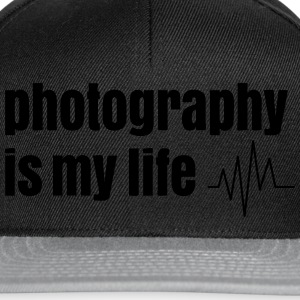 photography is my life fotografie is mijn leven T-shirts - Snapback cap