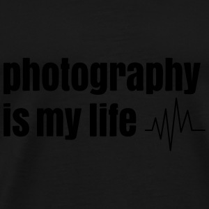 photography is my life Bags & backpacks - Men's Premium T-Shirt