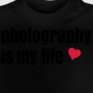 photography is my life fotografering er mit liv T-shirts - Baby T-shirt