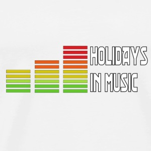 Holidays in music Flessen & bekers - Mannen Premium T-shirt