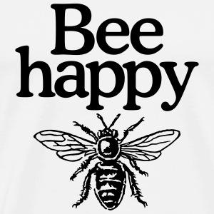 Bee happy Beekeeper Cap - Men's Premium T-Shirt