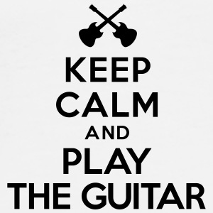 Keep calm and play the guitar Bouteilles et tasses - T-shirt Premium Homme