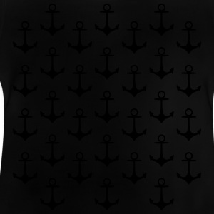 anchor pattern ankare mönster T-shirts - Baby-T-shirt