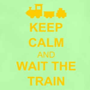 Keep calm and wait the train Skjorter - Baby-T-skjorte