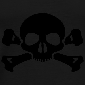 Skull crossed bones bag - Men's Premium T-Shirt
